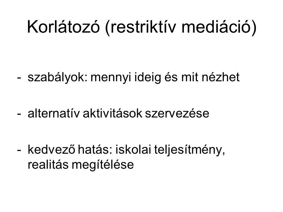 Korlátozó (restriktív mediáció)