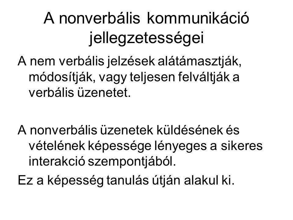 A nonverbális kommunikáció jellegzetességei
