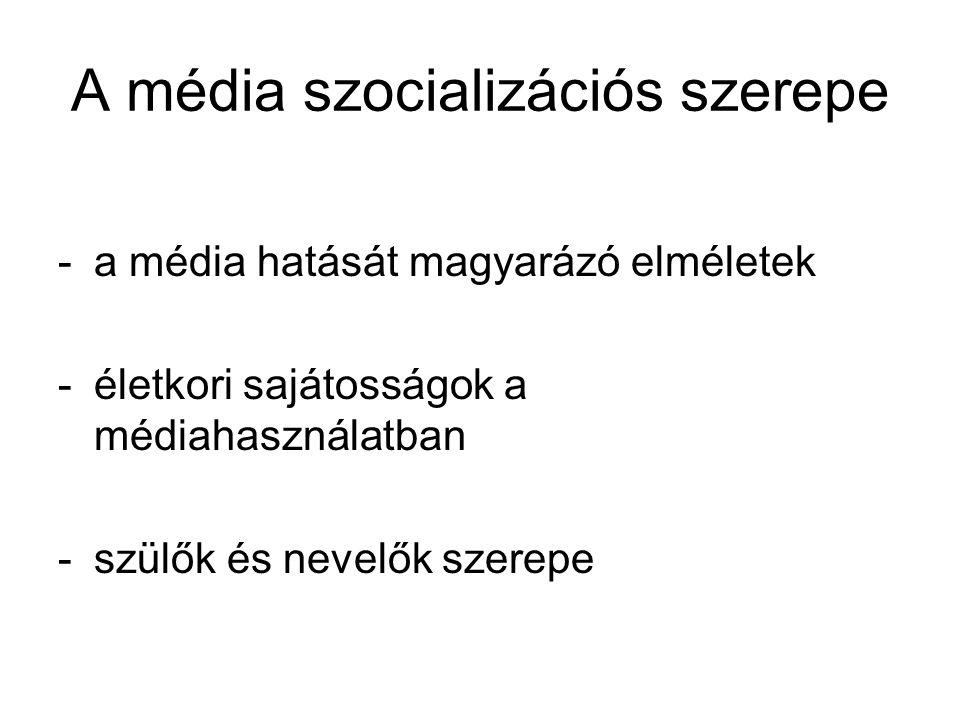 A média szocializációs szerepe