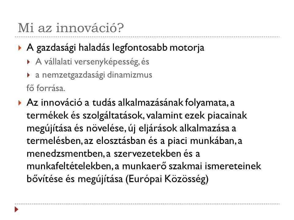 Mi az innováció A gazdasági haladás legfontosabb motorja