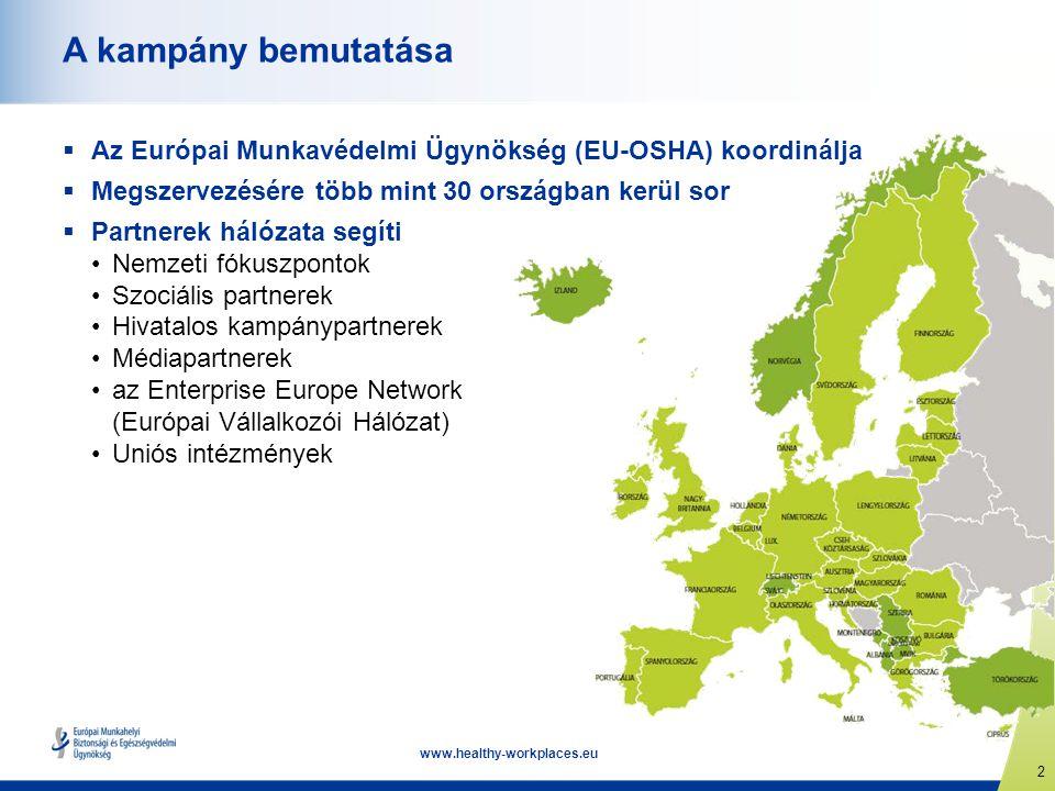 A kampány bemutatása Az Európai Munkavédelmi Ügynökség (EU-OSHA) koordinálja. Megszervezésére több mint 30 országban kerül sor.