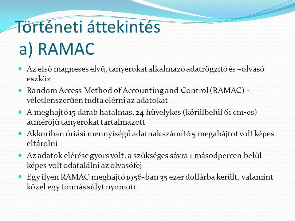 Történeti áttekintés a) RAMAC