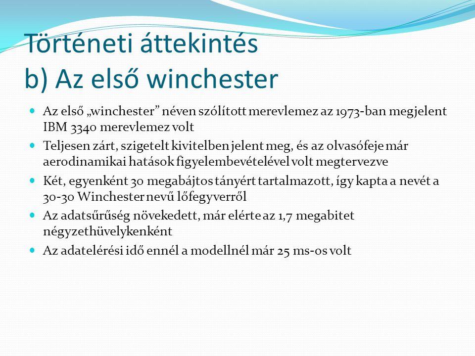 Történeti áttekintés b) Az első winchester