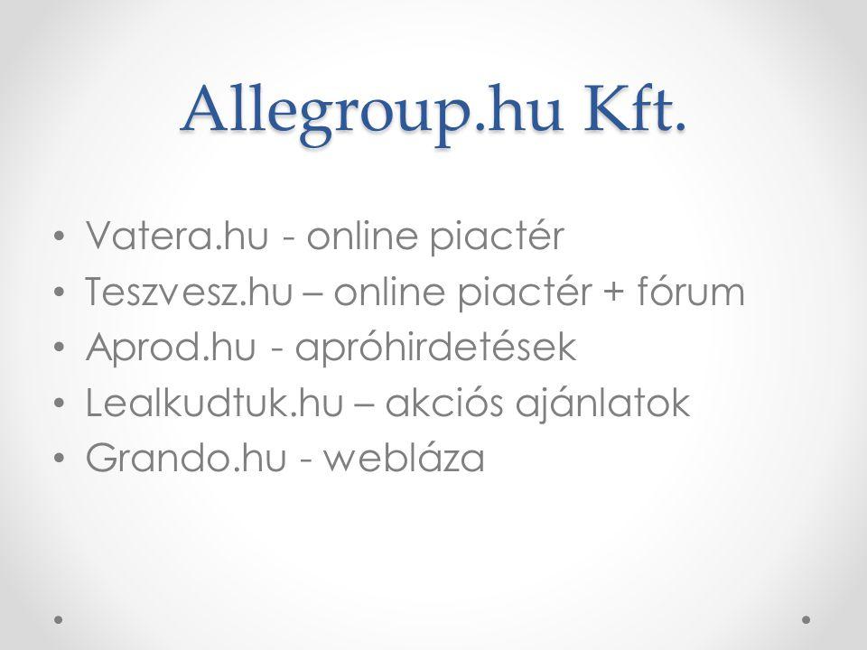 Allegroup.hu Kft. Vatera.hu - online piactér