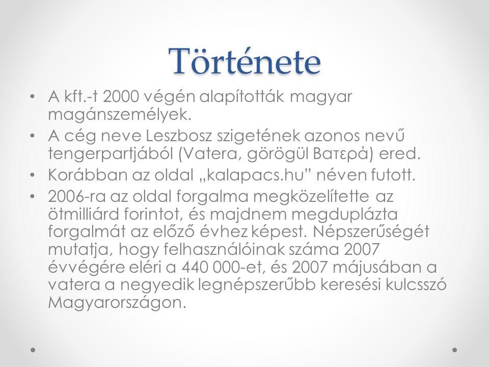 Története A kft.-t 2000 végén alapították magyar magánszemélyek.