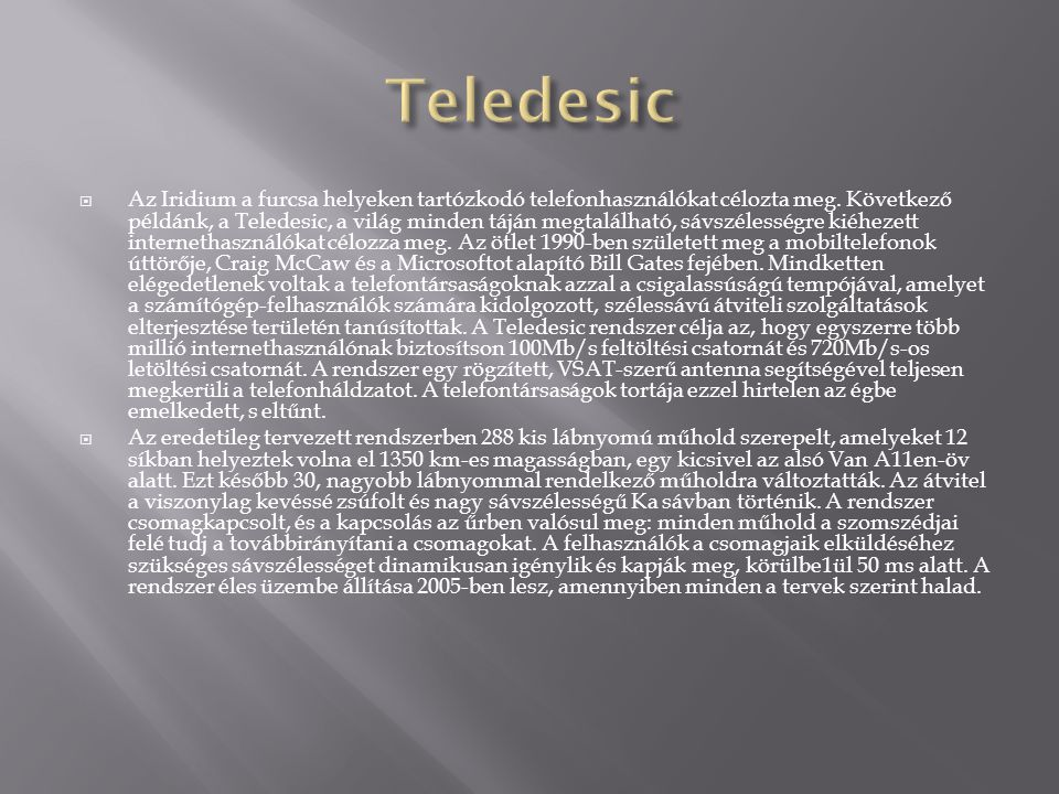 Teledesic