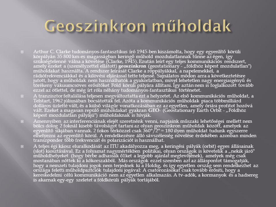Geoszinkron műholdak