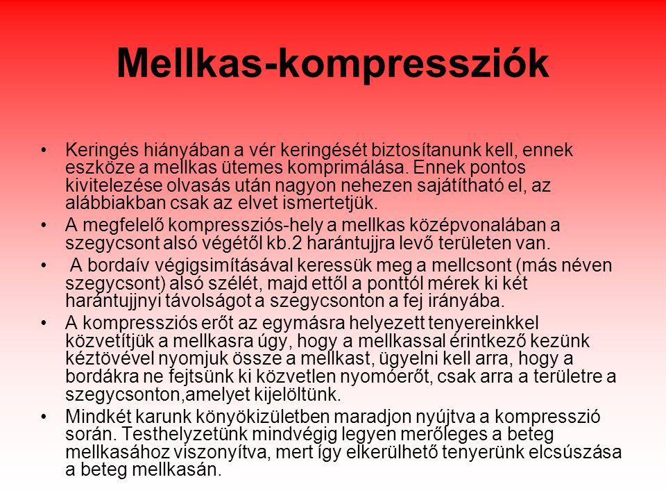 Mellkas-kompressziók