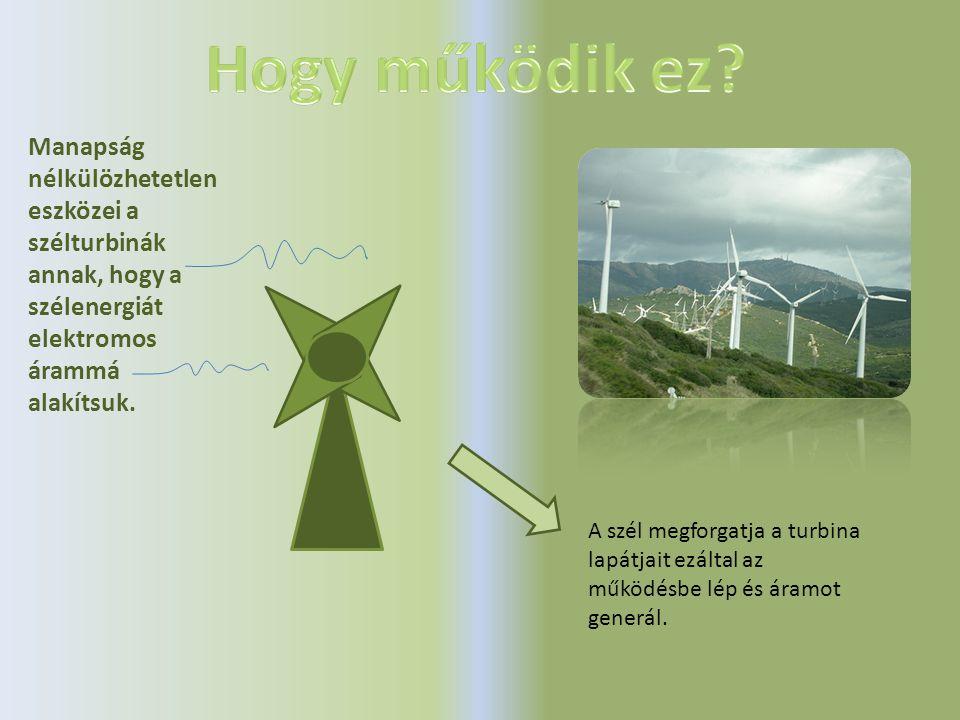 Hogy működik ez Manapság nélkülözhetetlen eszközei a szélturbinák annak, hogy a szélenergiát elektromos árammá alakítsuk.