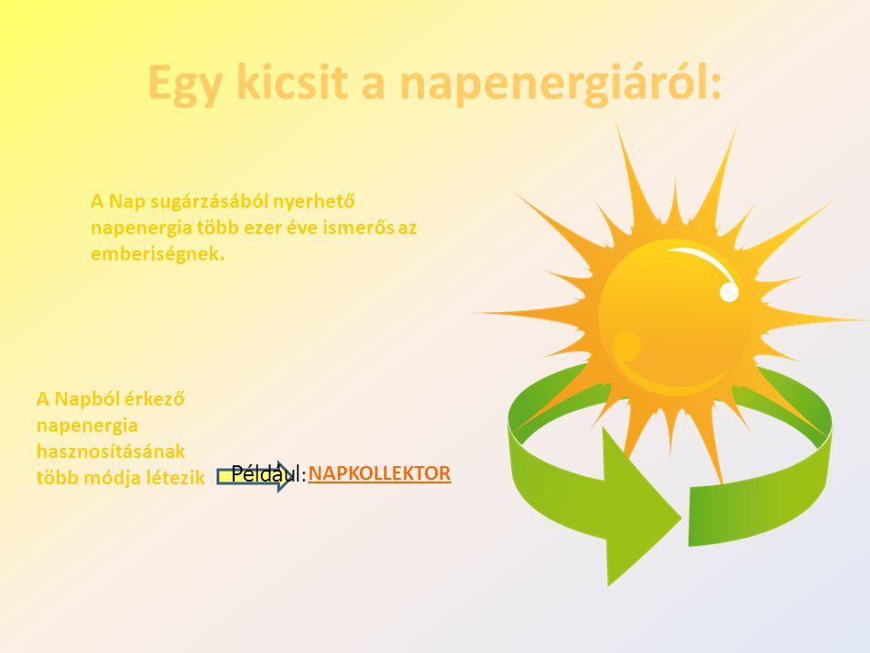 Egy kicsit a napenergiáról: