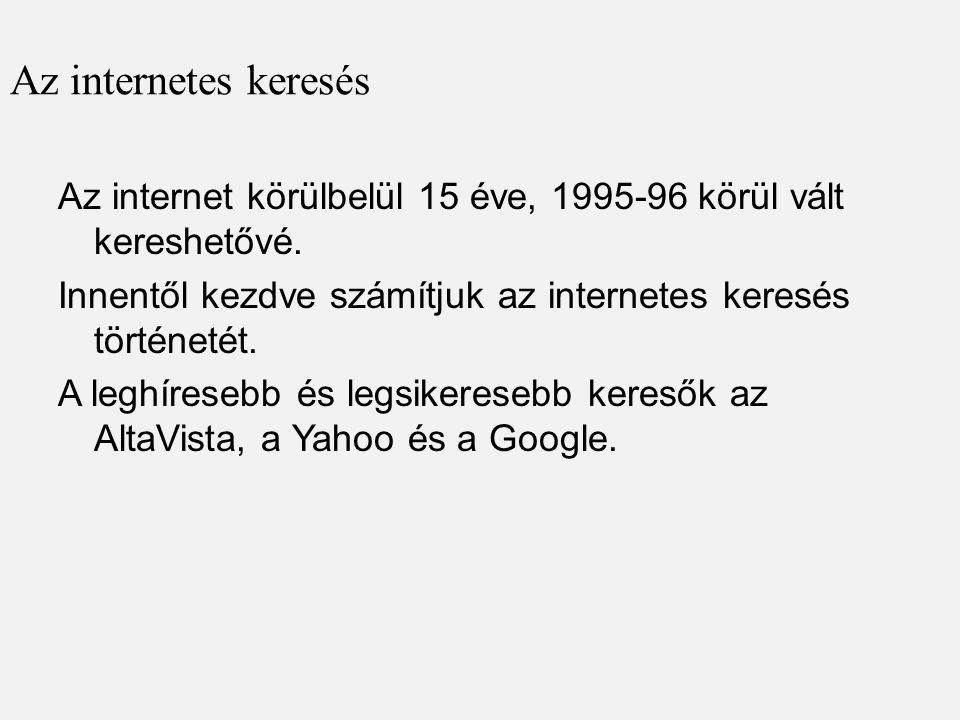 Az internetes keresés