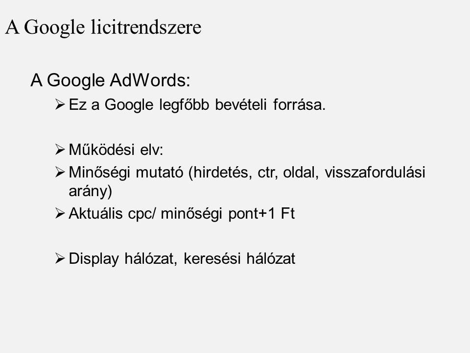 A Google licitrendszere