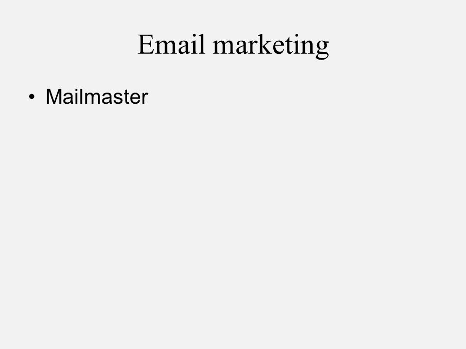 Email marketing Mailmaster
