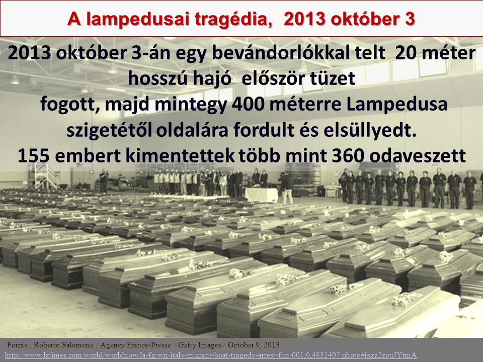 A lampedusai tragédia, 2013 október 3