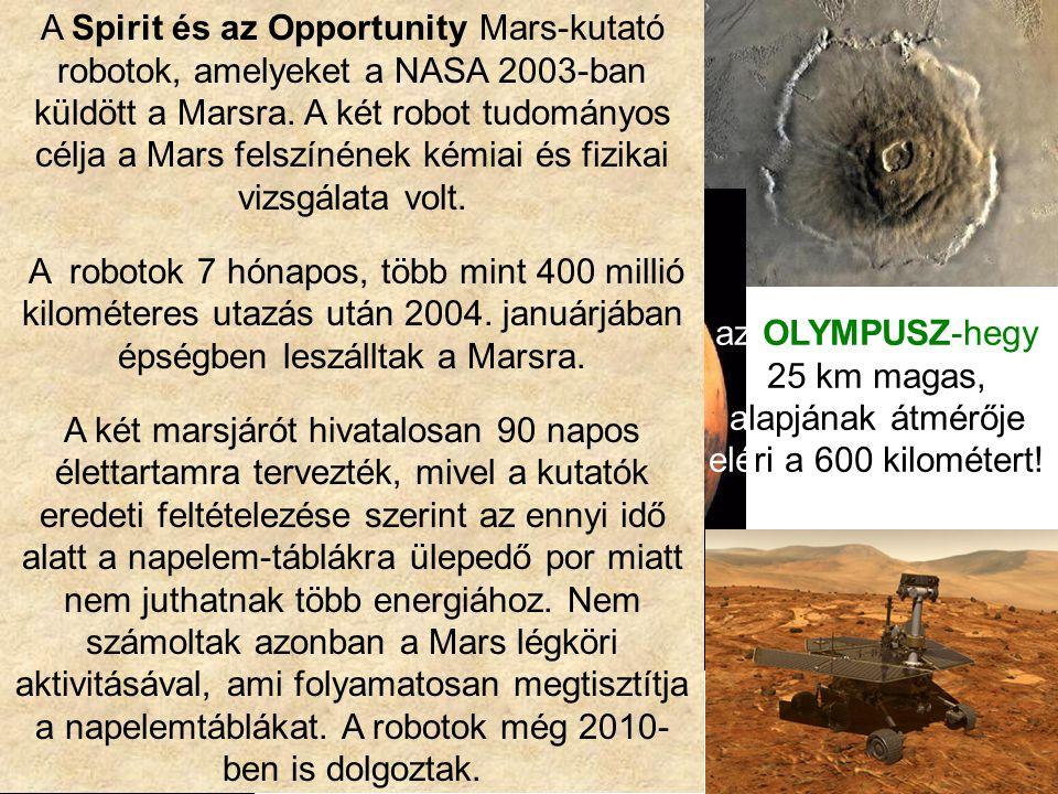 A Spirit és az Opportunity Mars-kutató robotok, amelyeket a NASA 2003-ban küldött a Marsra. A két robot tudományos célja a Mars felszínének kémiai és fizikai vizsgálata volt.