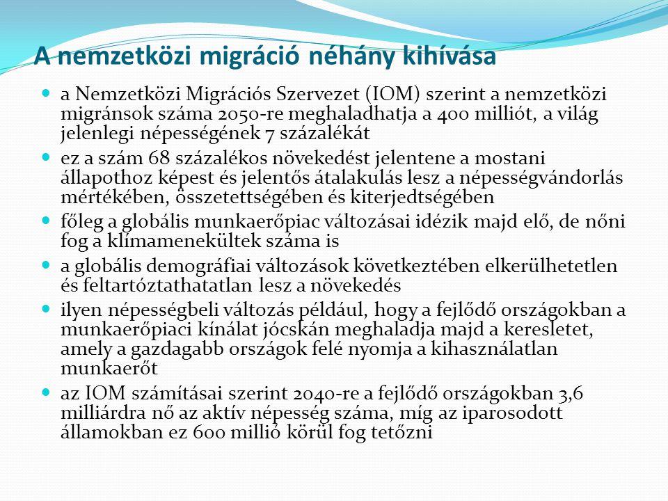 A nemzetközi migráció néhány kihívása