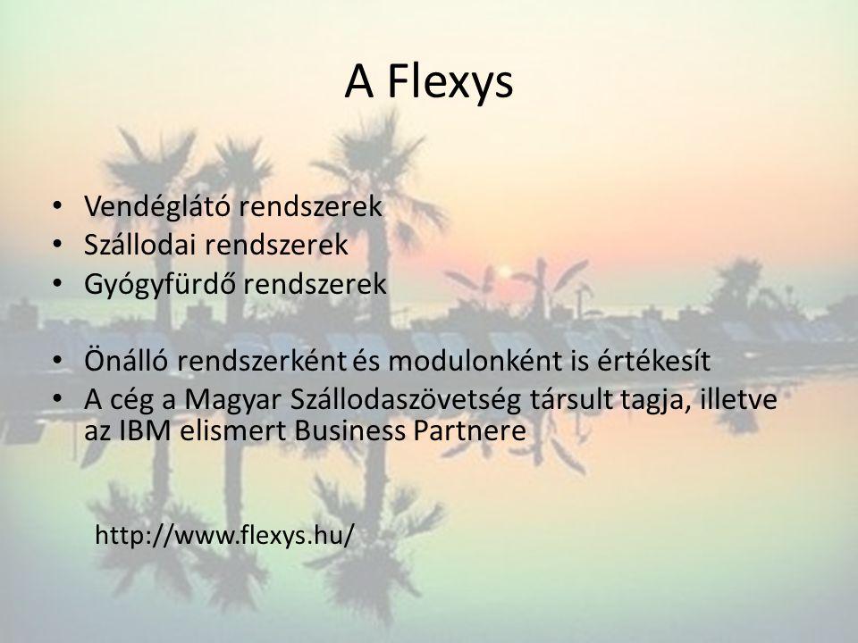 A Flexys Vendéglátó rendszerek Szállodai rendszerek