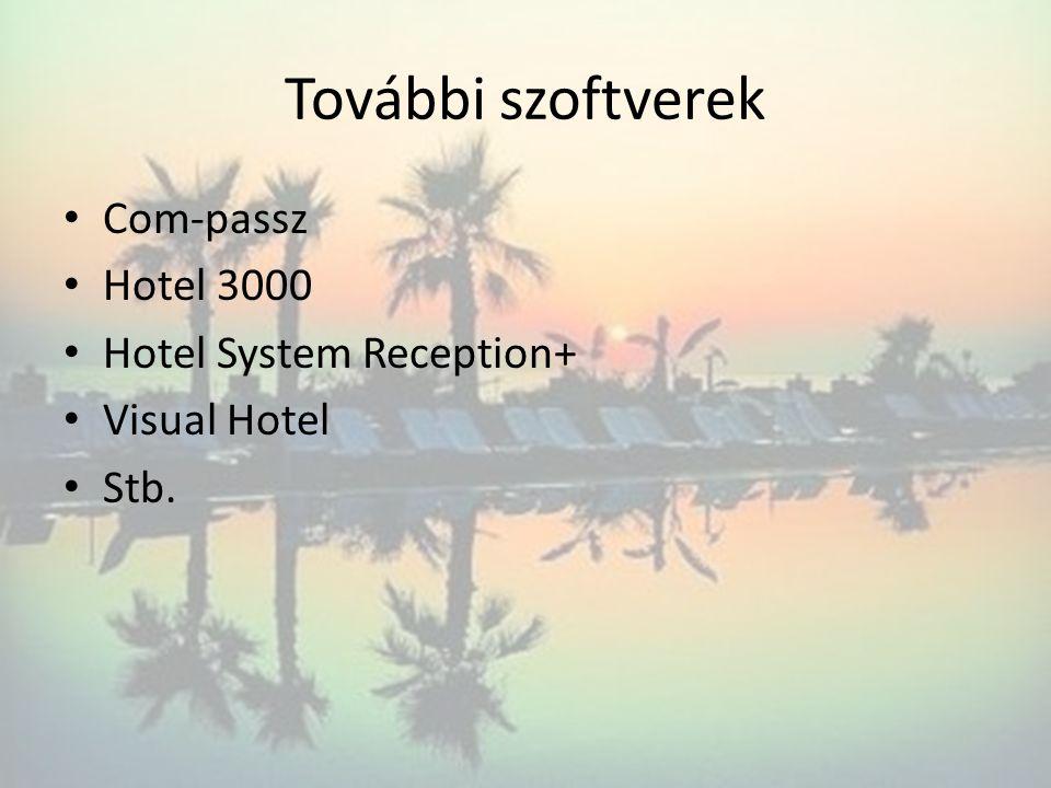 További szoftverek Com-passz Hotel 3000 Hotel System Reception+