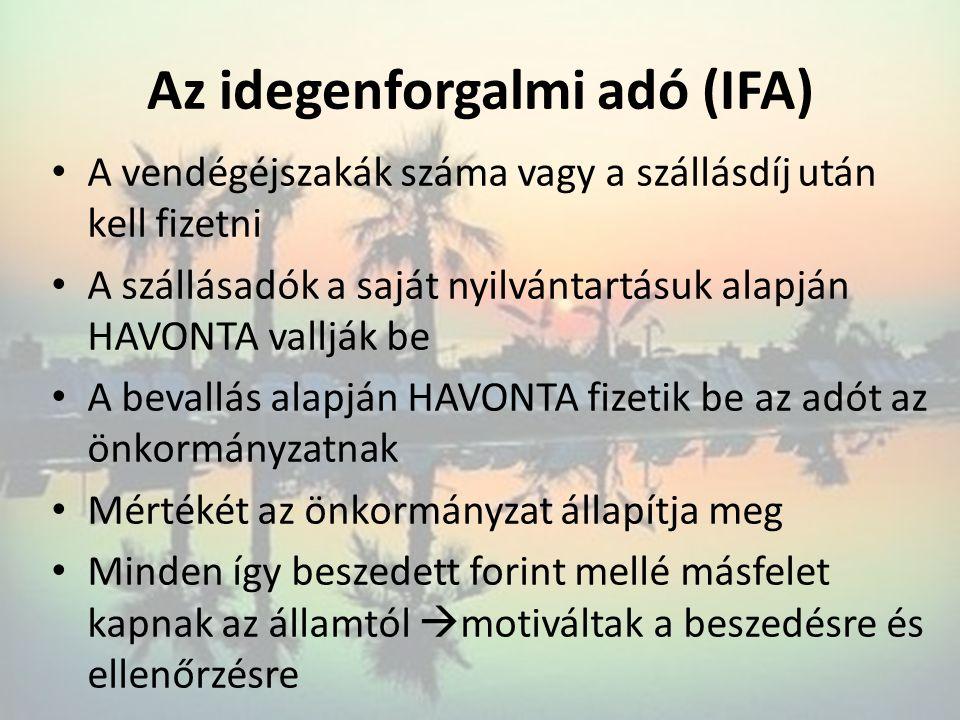 Az idegenforgalmi adó (IFA)