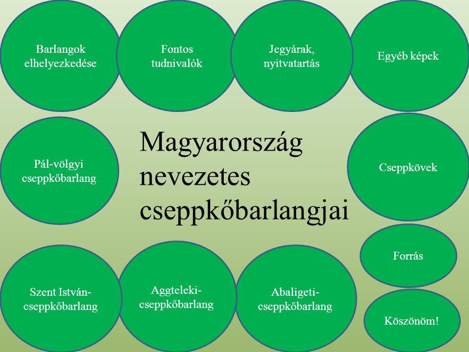 Magyarország nevezetes cseppkőbarlangjai