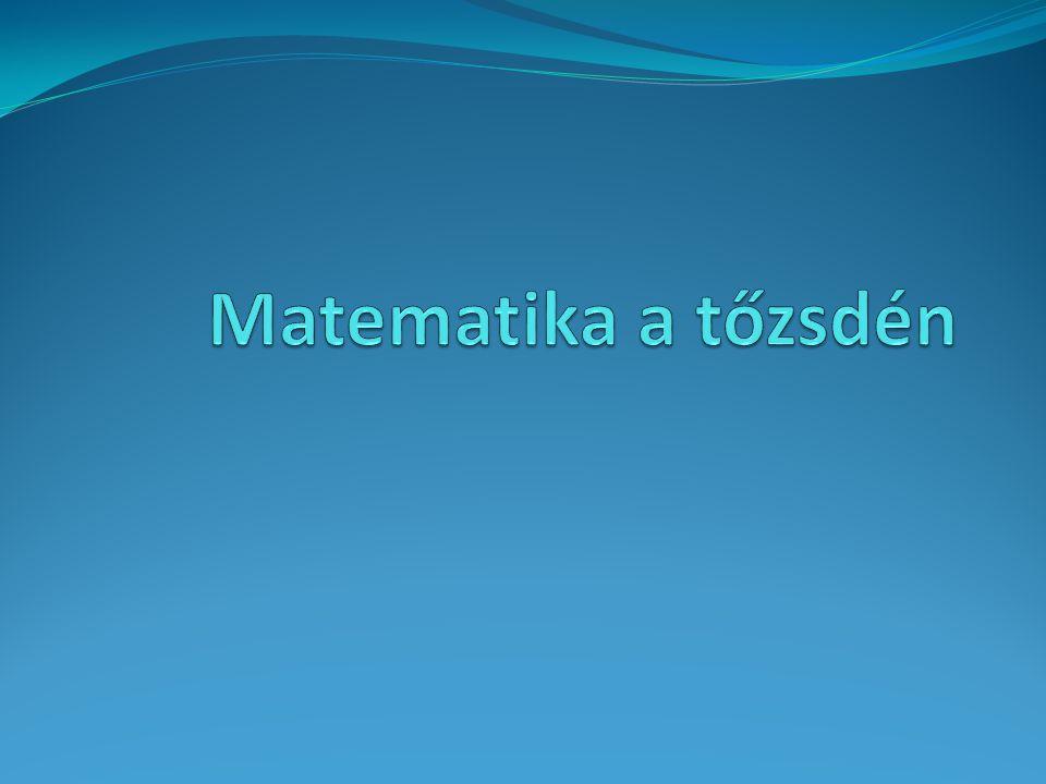 Matematika a tőzsdén