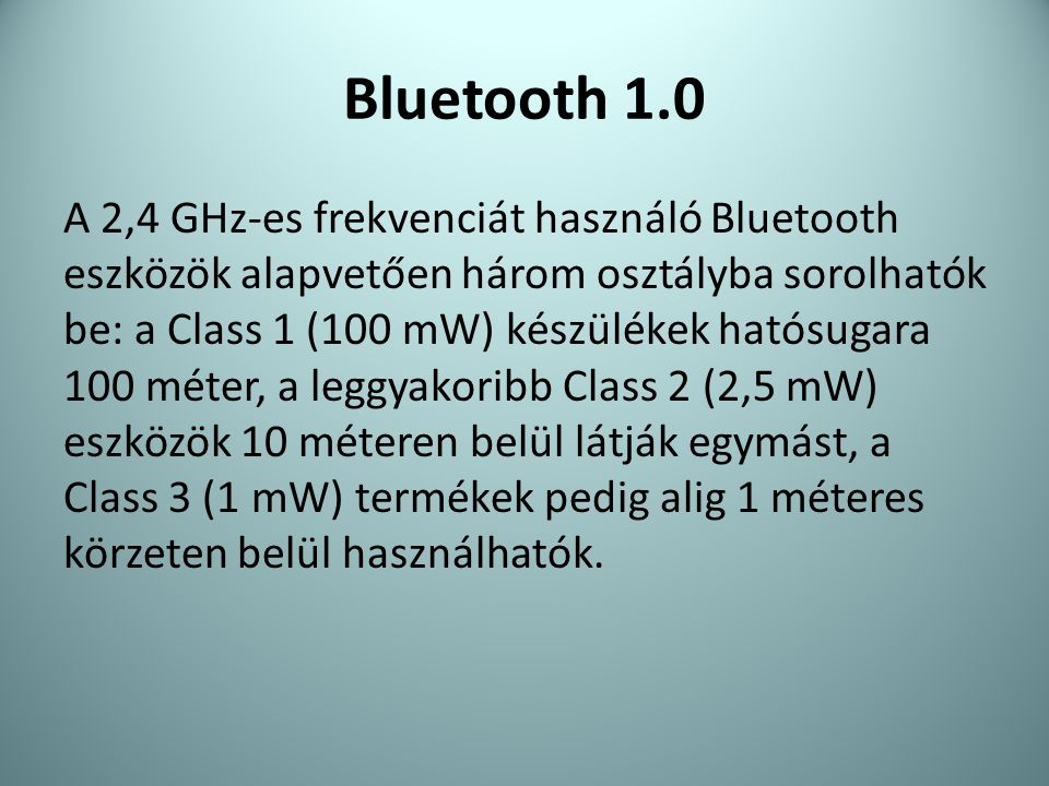 Bluetooth 1.0
