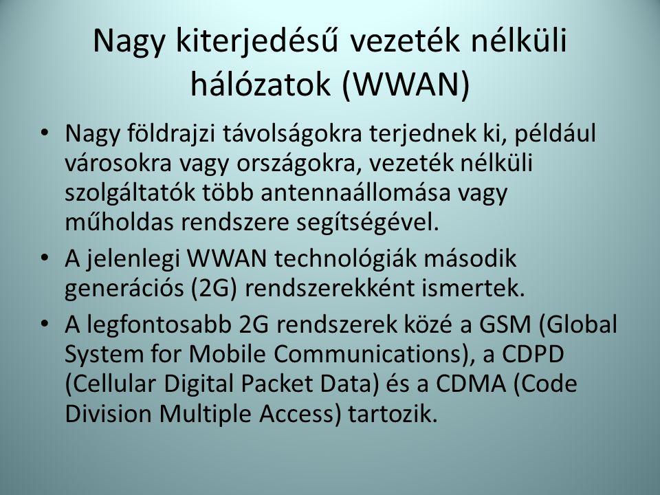 Nagy kiterjedésű vezeték nélküli hálózatok (WWAN)