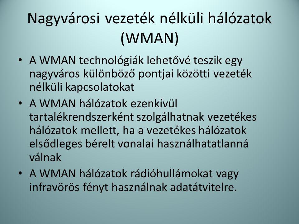 Nagyvárosi vezeték nélküli hálózatok (WMAN)