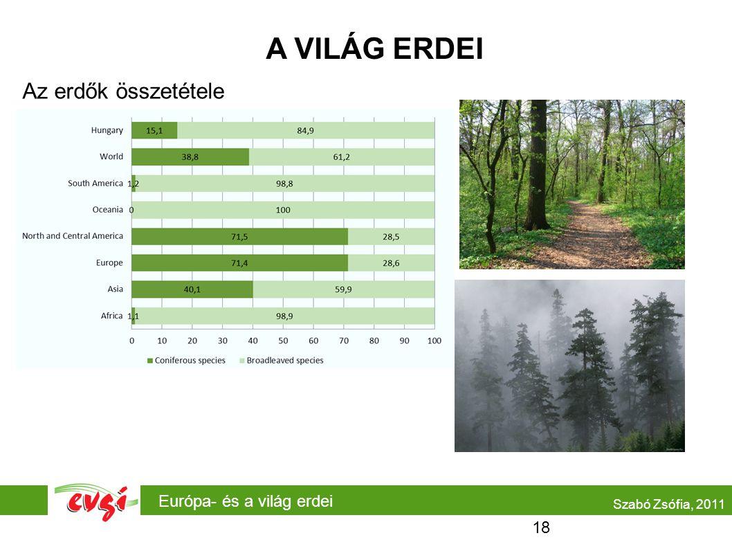 A VILÁG ERDEI Az erdők összetétele Európa- és a világ erdei