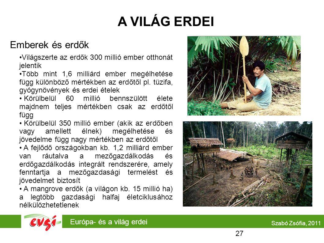 A VILÁG ERDEI Emberek és erdők