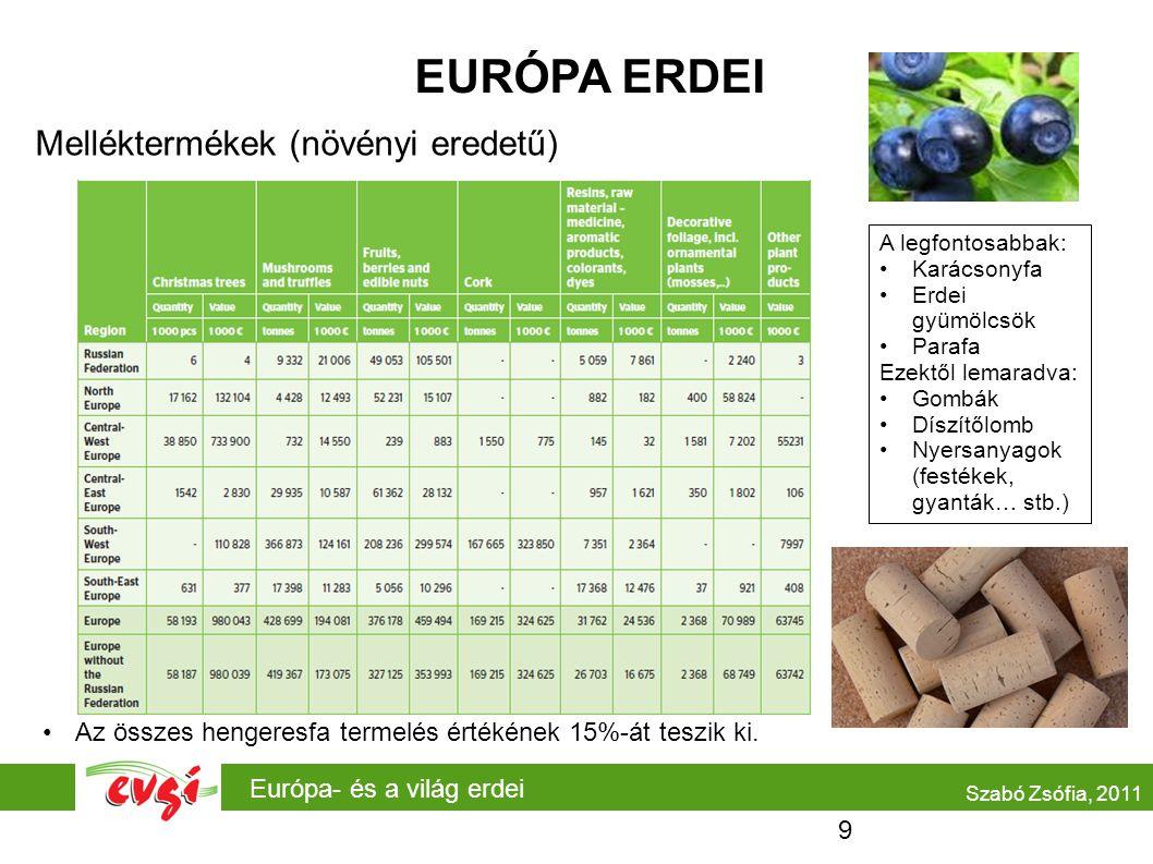EURÓPA ERDEI Melléktermékek (növényi eredetű)