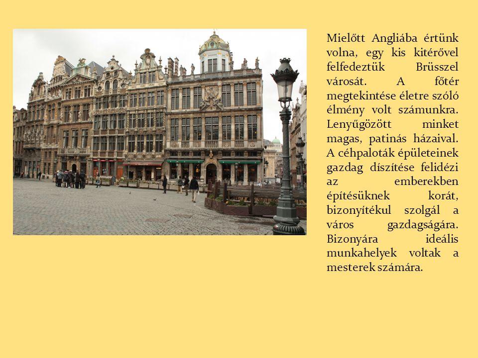 Mielőtt Angliába értünk volna, egy kis kitérővel felfedeztük Brüsszel városát.