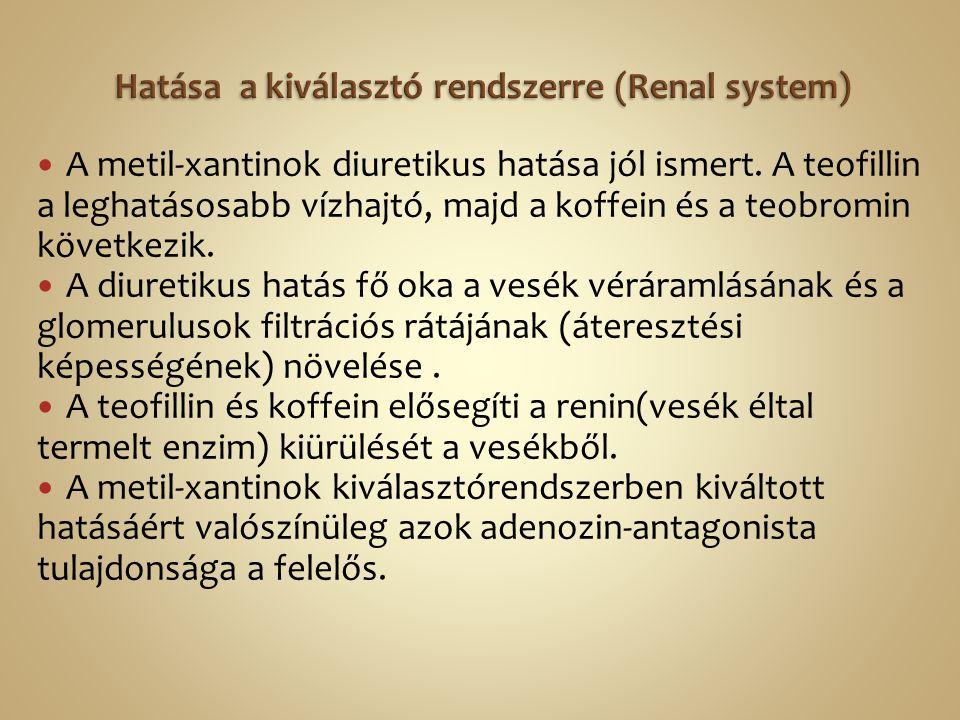 Hatása a kiválasztó rendszerre (Renal system)