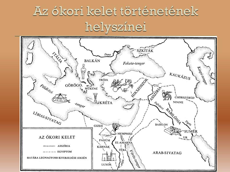 Az ókori kelet történetének helyszínei