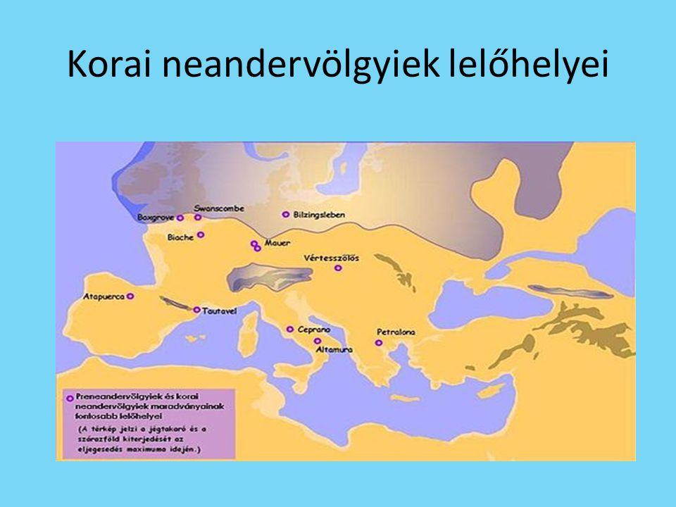 Korai neandervölgyiek lelőhelyei