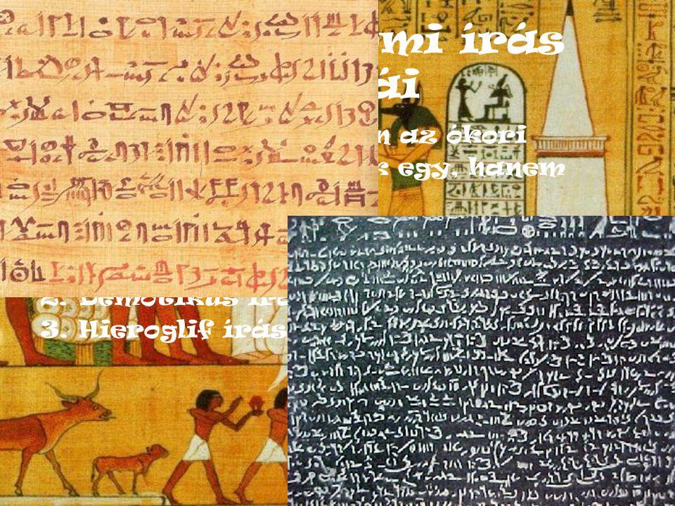 Az egyiptomi írás fajtái