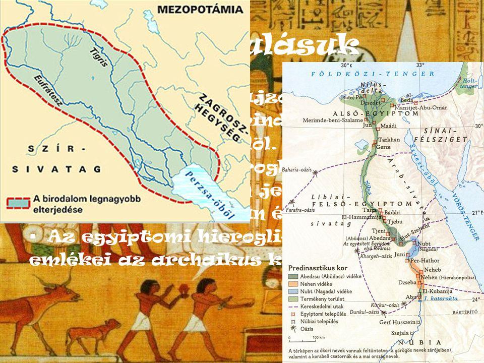 Kialakulásuk A hieroglifa egy rajzos szimbólum,