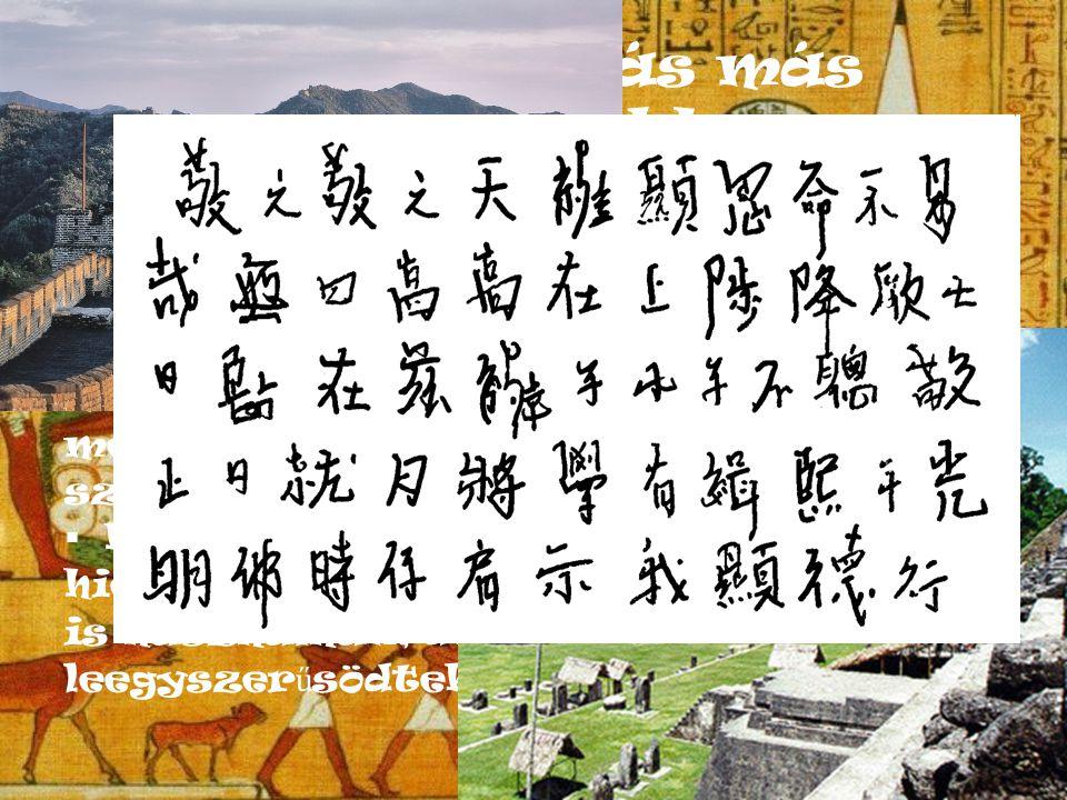 Hieroglif írás más birodalmakban