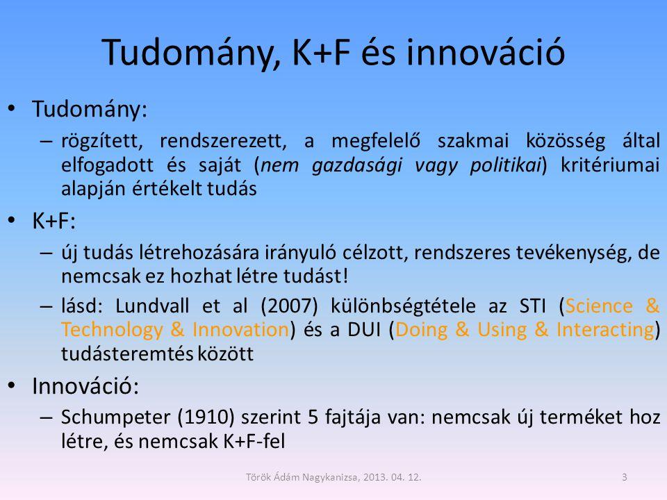 Tudomány, K+F és innováció