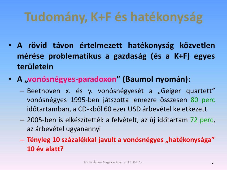 Tudomány, K+F és hatékonyság