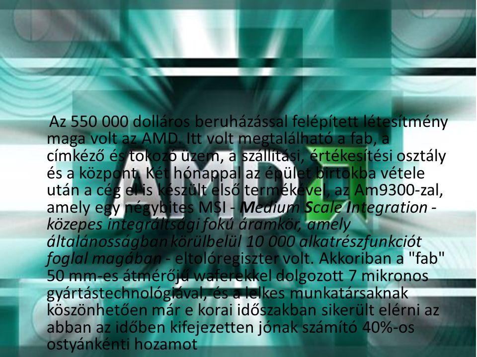 Az 550 000 dolláros beruházással felépített létesítmény maga volt az AMD.
