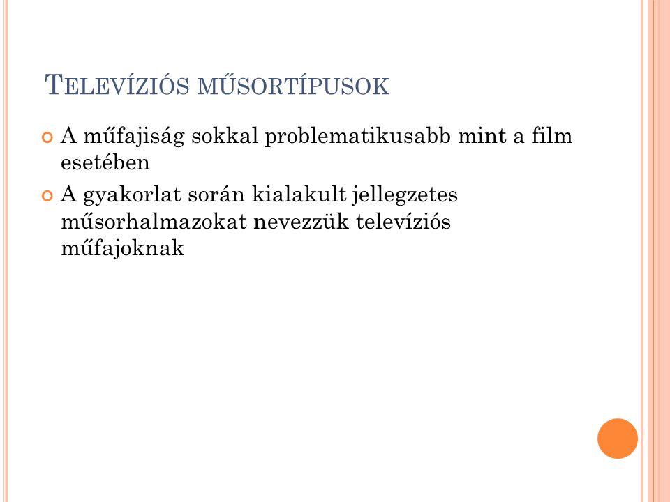 Televíziós műsortípusok