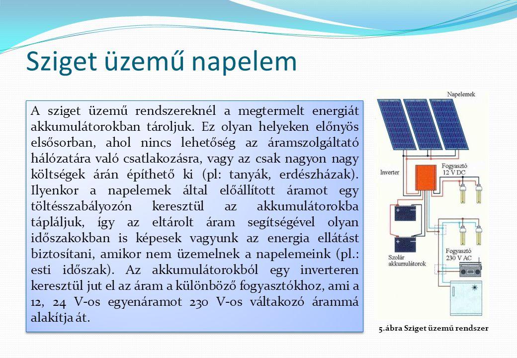 Sziget üzemű napelem