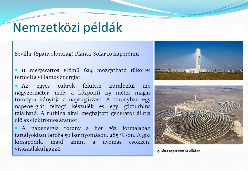 Nemzetközi példák Sevilla, (Spanyolország) Planta Solar 10 naperőmű