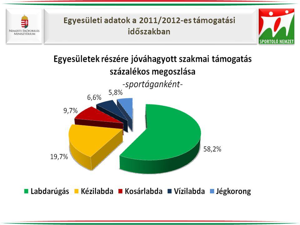 Egyesületi adatok a 2011/2012-es támogatási időszakban