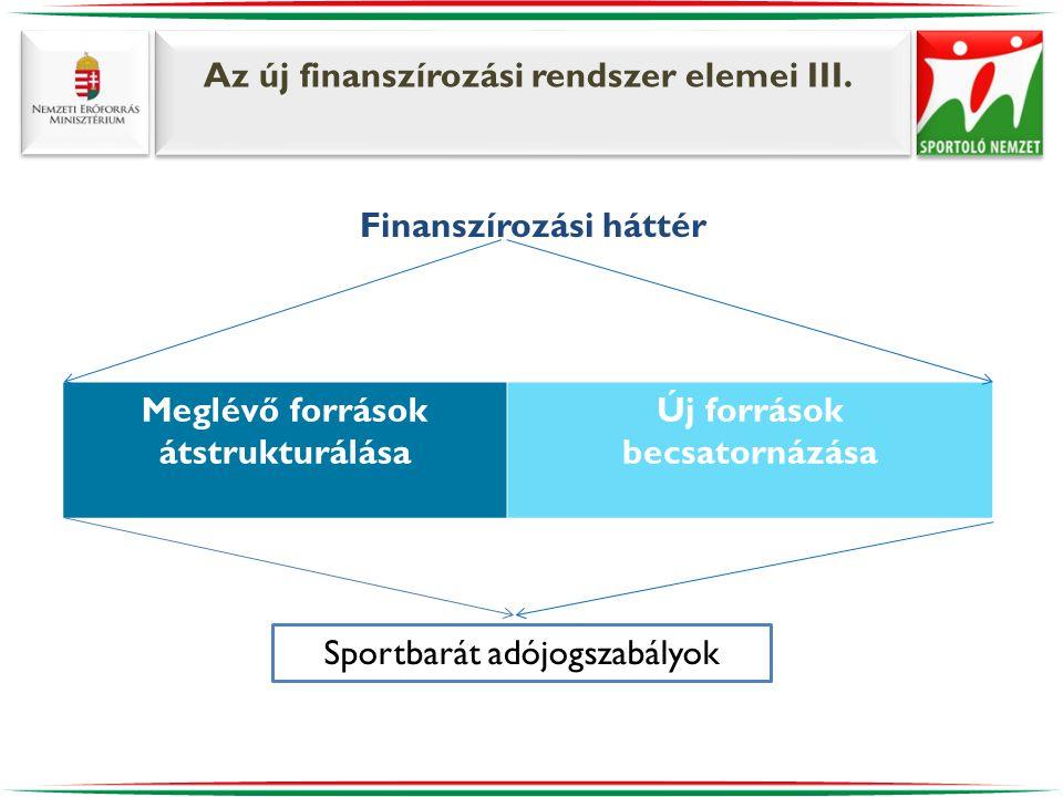 Az új finanszírozási rendszer elemei III.