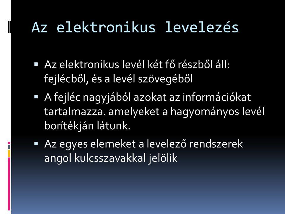 Az elektronikus levelezés