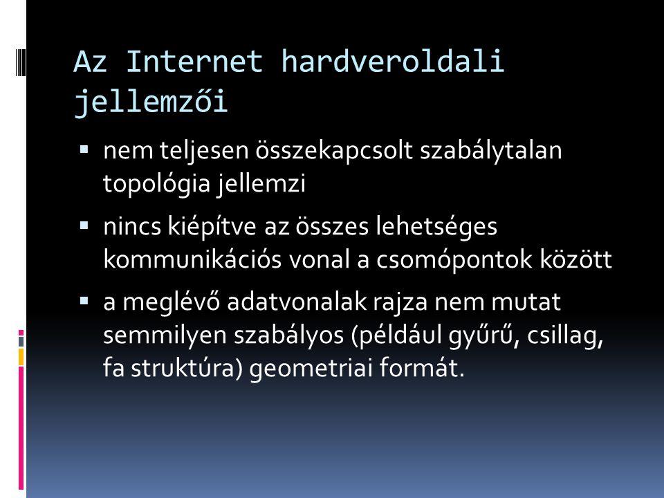 Az Internet hardveroldali jellemzői