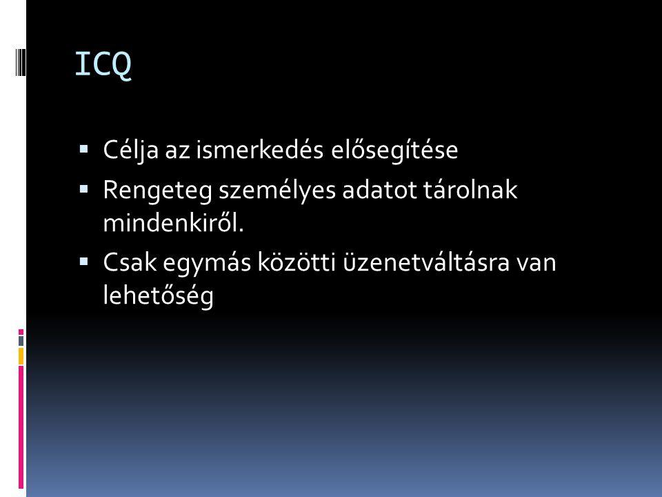 ICQ Célja az ismerkedés elősegítése
