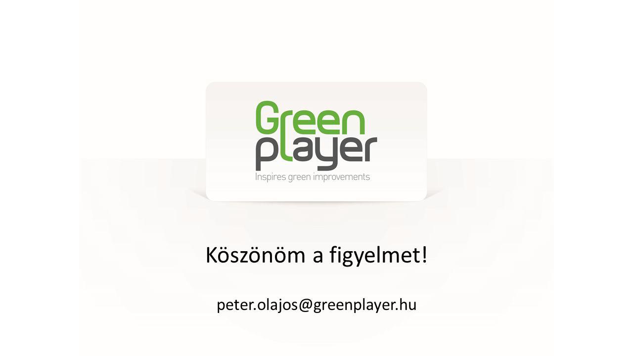 Köszönöm a figyelmet! peter.olajos@greenplayer.hu